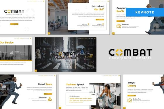 Presentation Templates: Combat - Keynote Template #07822