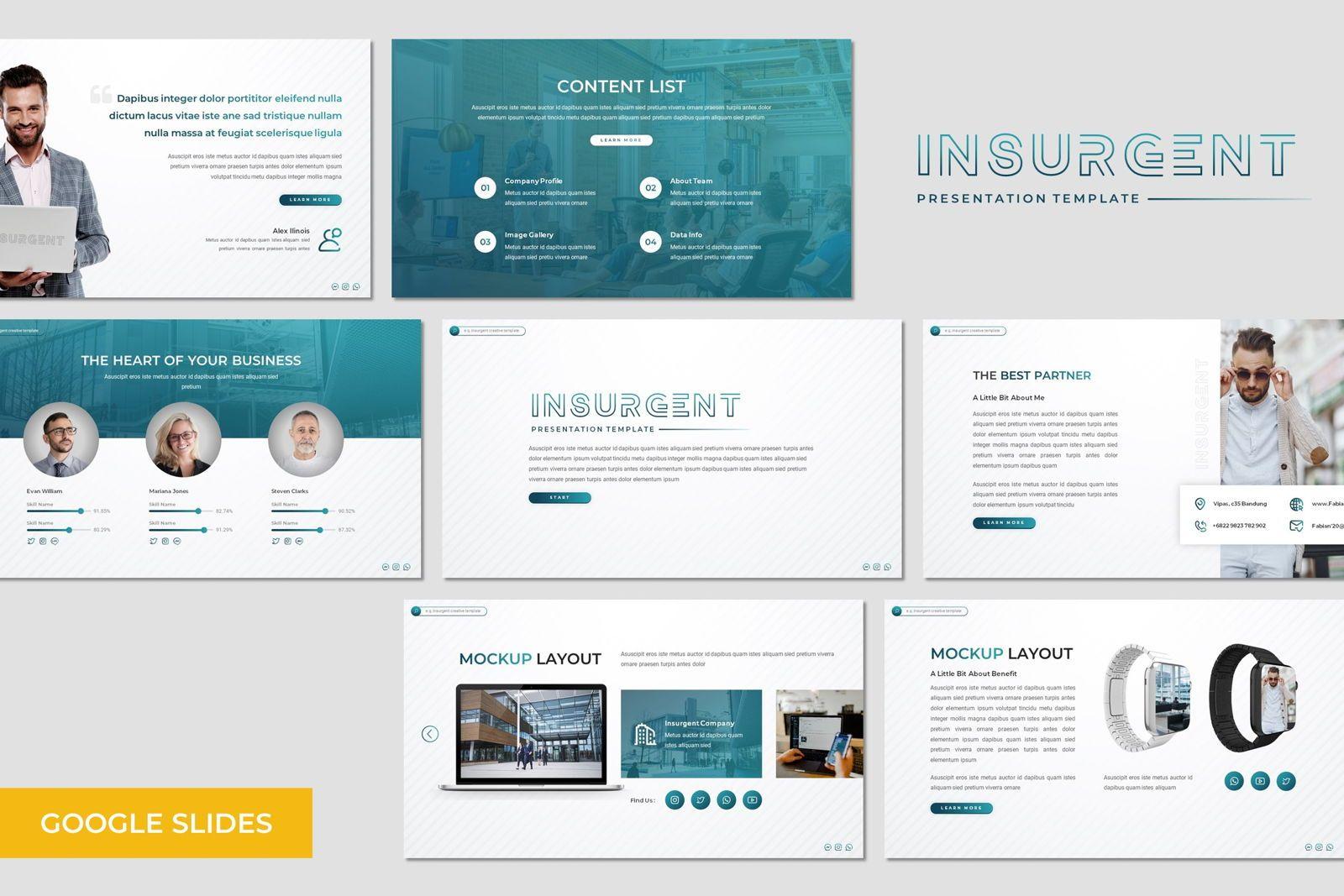 Insurgent - Google Slides Template, 07824, Presentation Templates — PoweredTemplate.com