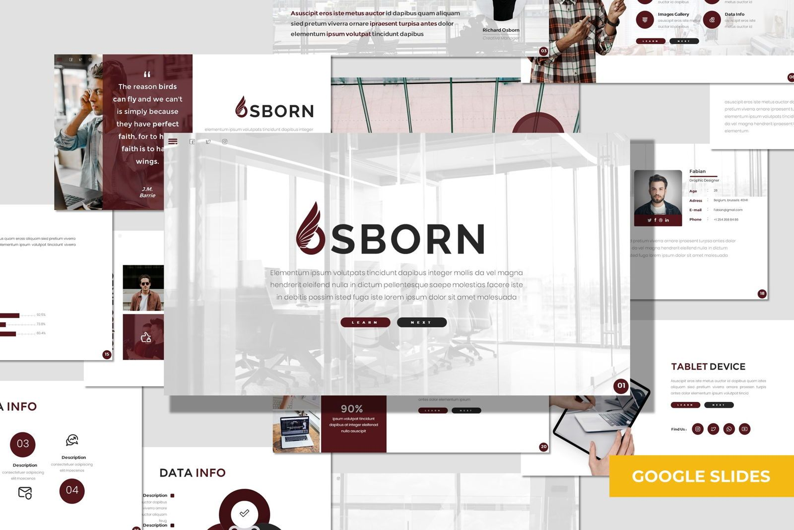 Osborn - Google Slides Template, 07826, Presentation Templates — PoweredTemplate.com