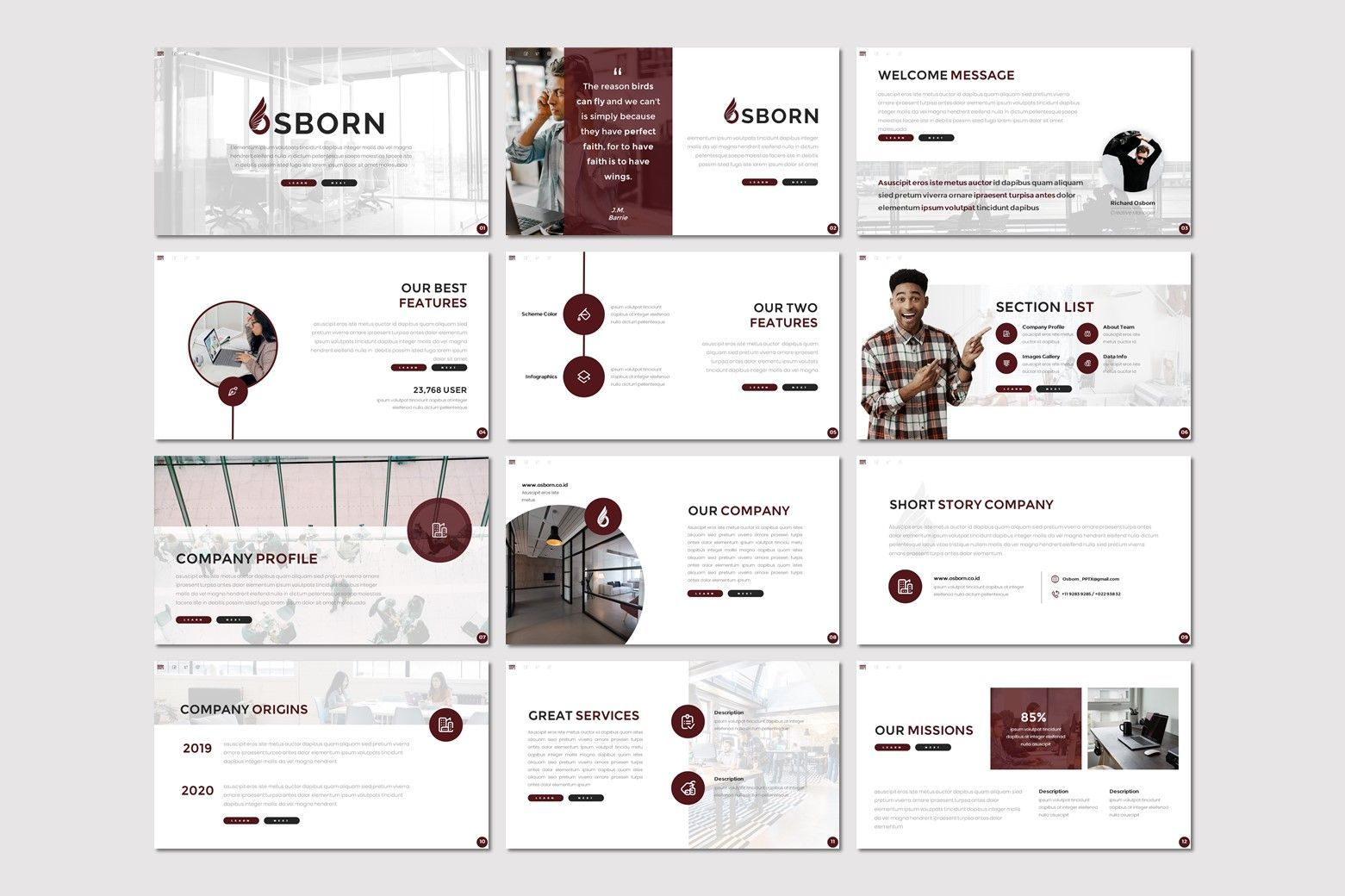 Osborn - Google Slides Template, Slide 2, 07826, Presentation Templates — PoweredTemplate.com
