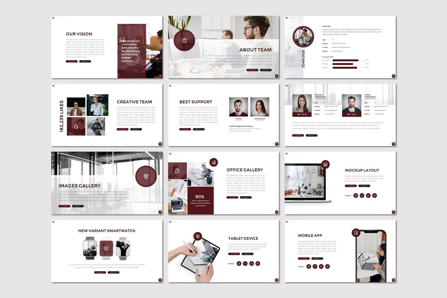 Osborn - Google Slides Template, Slide 3, 07826, Presentation Templates — PoweredTemplate.com