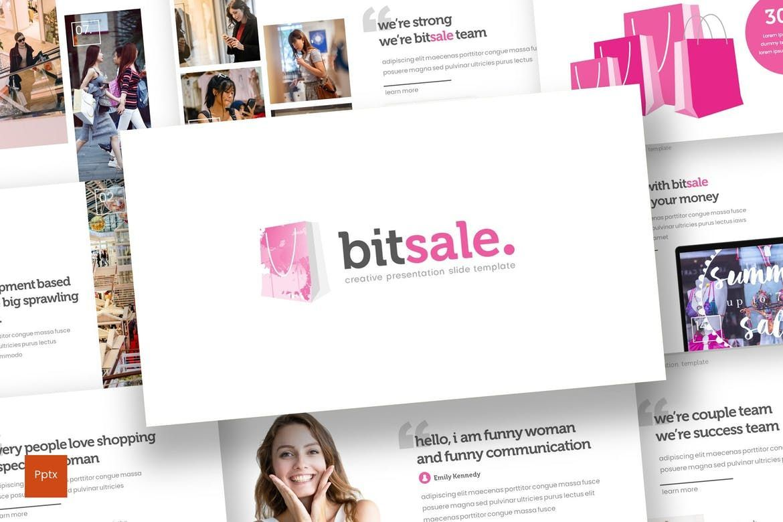 Bitsale - PowerPoint Template, 07830, Presentation Templates — PoweredTemplate.com