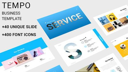 Presentation Templates: TEMPO Business Template PPTX #07833