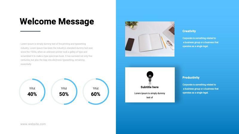 TEMPO Business Googleslide Template, Slide 3, 07836, Presentation Templates — PoweredTemplate.com