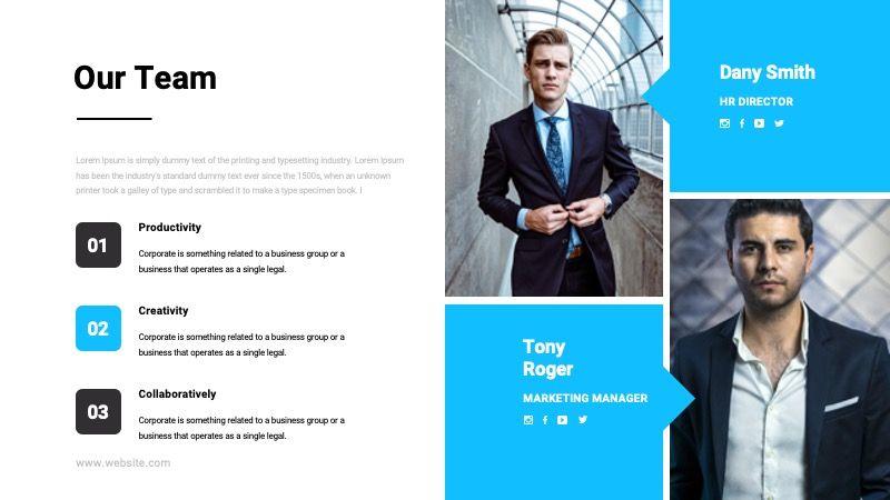 TEMPO Business Googleslide Template, Slide 9, 07836, Presentation Templates — PoweredTemplate.com