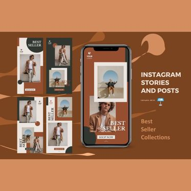 Business Models: Best selling instagram stories and posts keynote template #07839