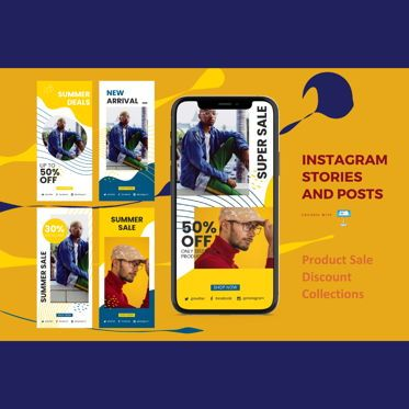 Business Models: Product discount instagram stories and posts keynote template #07841