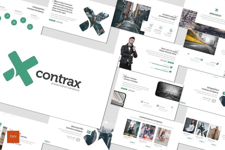 Contrax - PowerPoint Template, 07843, Presentation Templates — PoweredTemplate.com