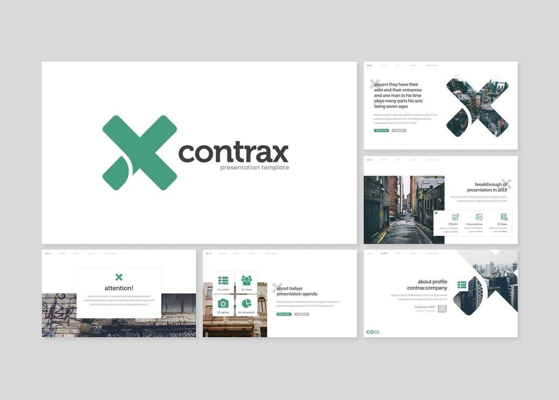 Contrax - PowerPoint Template, Slide 2, 07843, Presentation Templates — PoweredTemplate.com