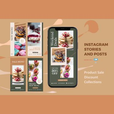 Business Models: Discount deal instagram stories and posts keynote template #07844