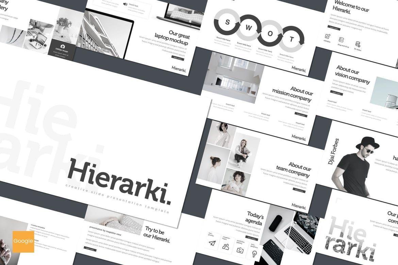 Hierarki - Google Slides Template, 07845, Presentation Templates — PoweredTemplate.com