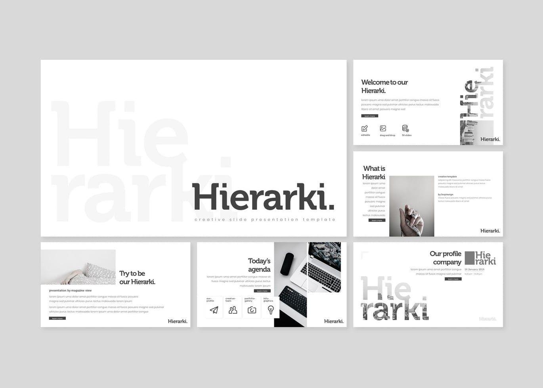 Hierarki - Google Slides Template, Slide 2, 07845, Presentation Templates — PoweredTemplate.com