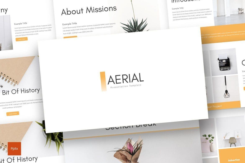 Aerial - PowerPoint Template, 07852, Presentation Templates — PoweredTemplate.com