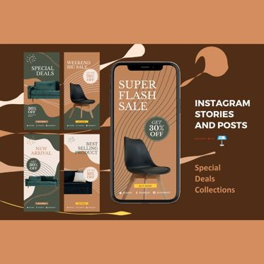 Business Models: Special deals instagram stories and posts keynote template #07856