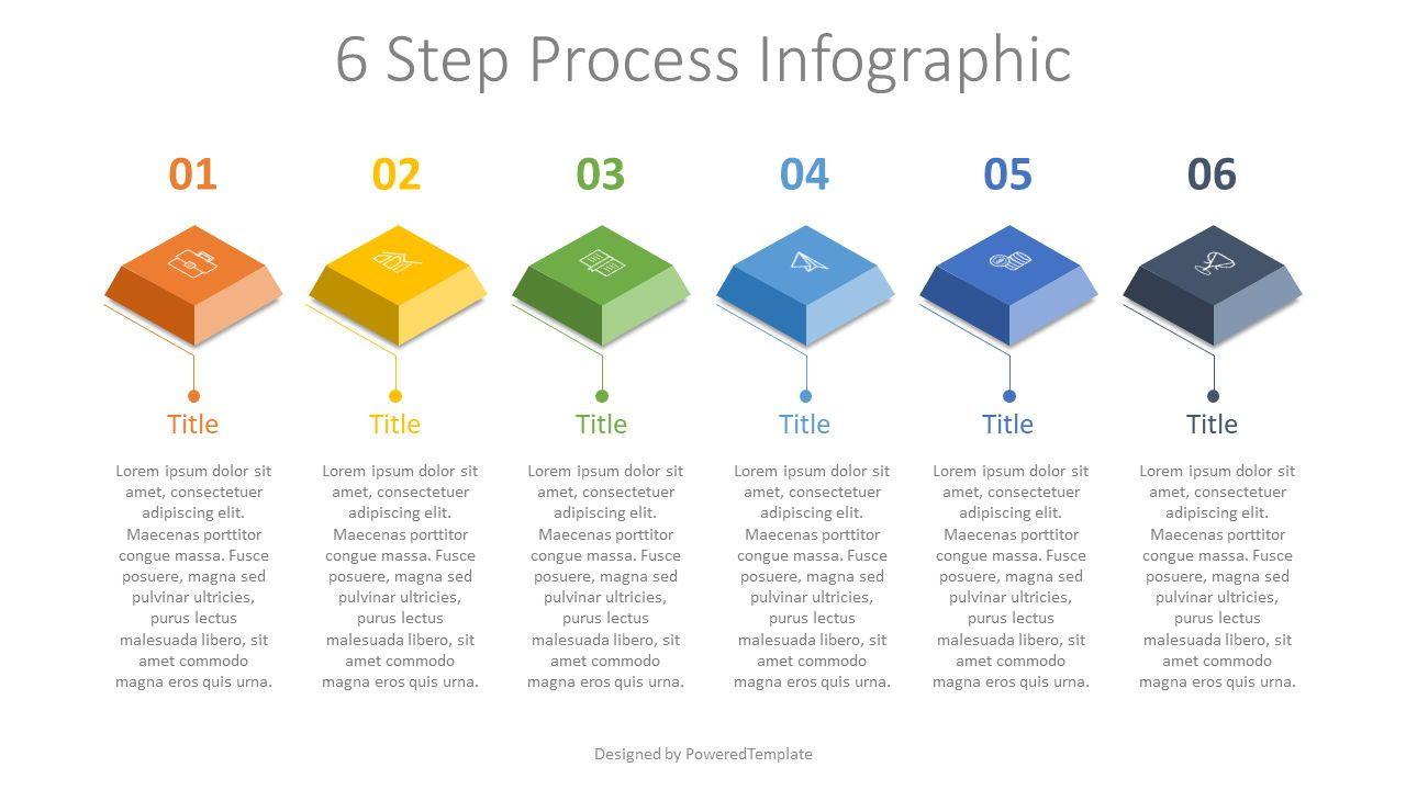 6 Step Process Infographic, 07857, Infographics — PoweredTemplate.com