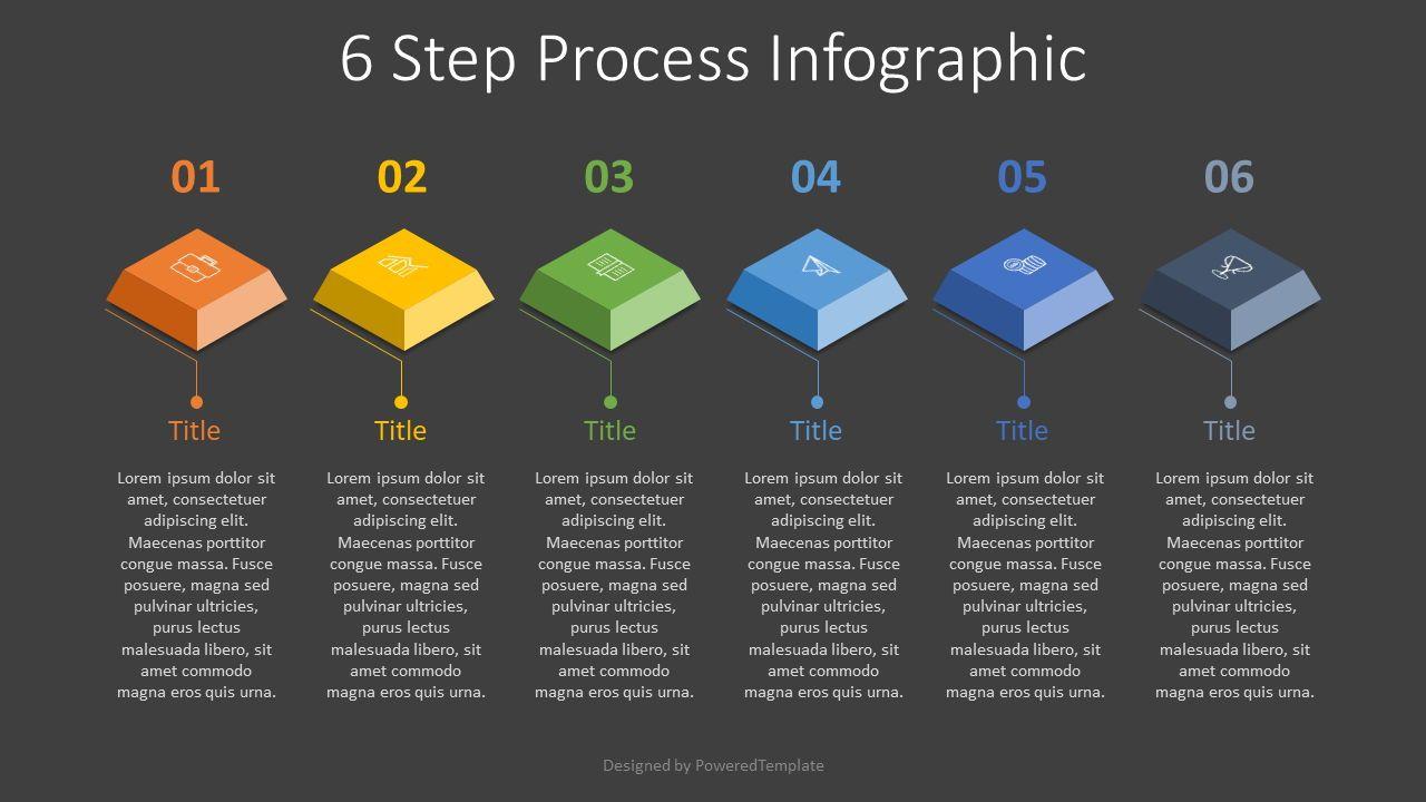 6 Step Process Infographic, Slide 2, 07857, Infographics — PoweredTemplate.com