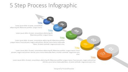 Process Diagrams: 5 Step Process Roadmap #07860