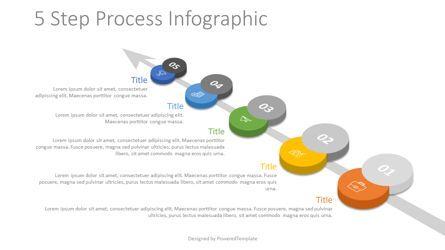 Process Diagrams: 5 Step Process Roadmap #07860