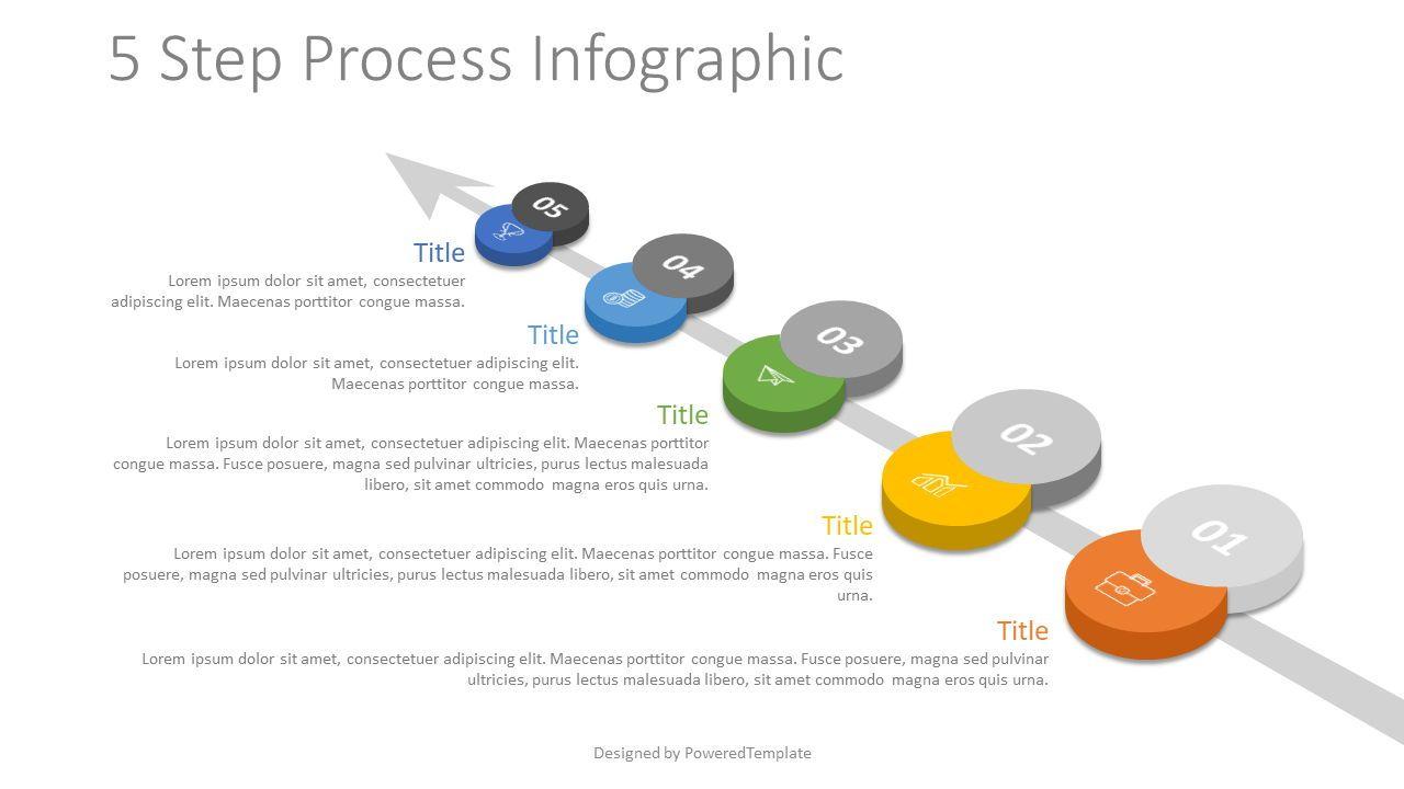 5 Step Process Roadmap, 07860, Process Diagrams — PoweredTemplate.com
