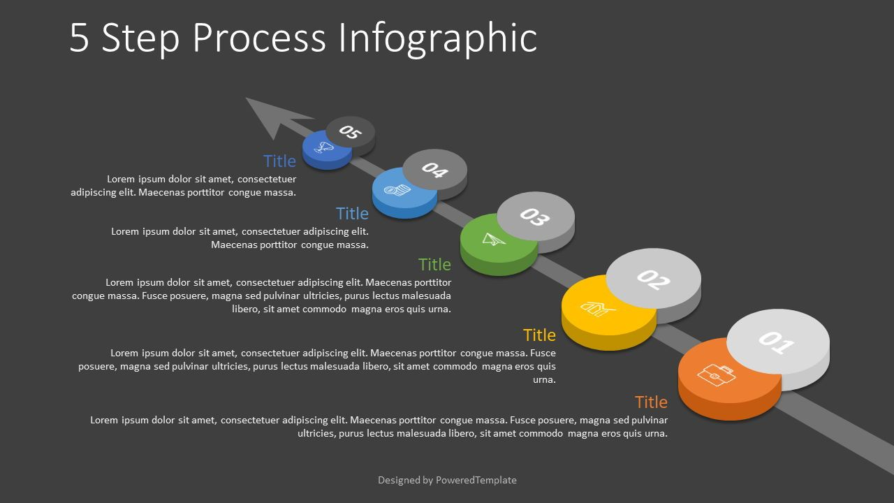 5 Step Process Roadmap, Slide 2, 07860, Process Diagrams — PoweredTemplate.com