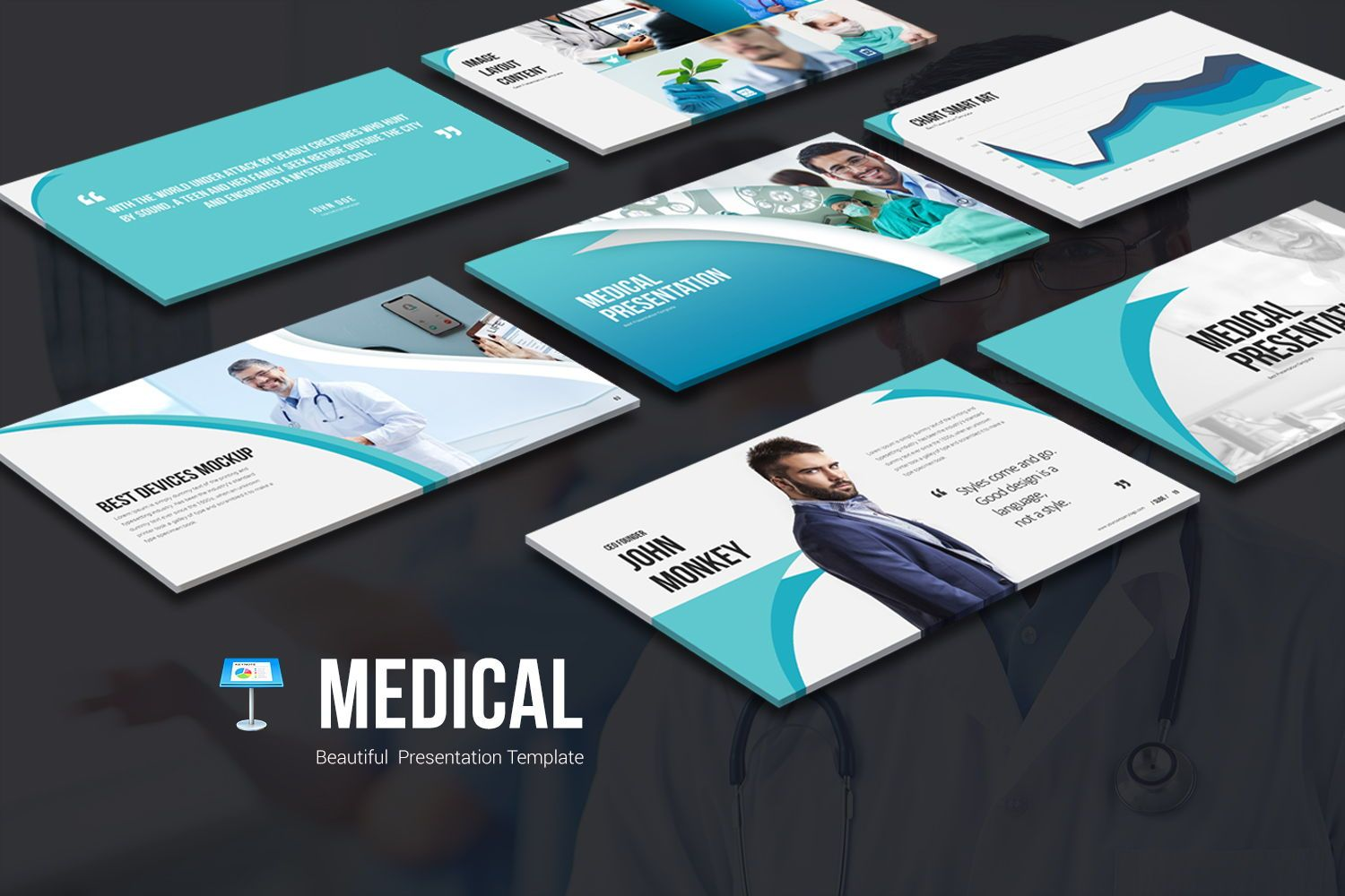 Medical Keynote Templates, 07861, Model Bisnis — PoweredTemplate.com