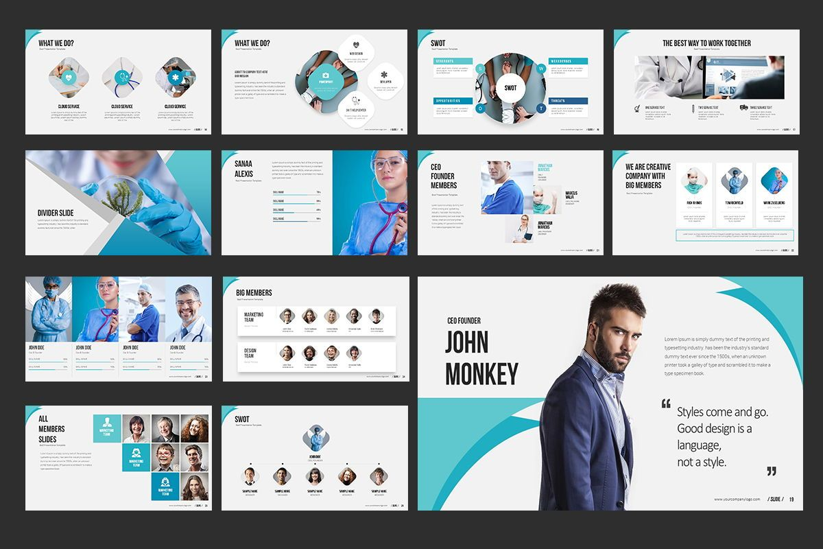 Medical Keynote Templates, Slide 3, 07861, Model Bisnis — PoweredTemplate.com