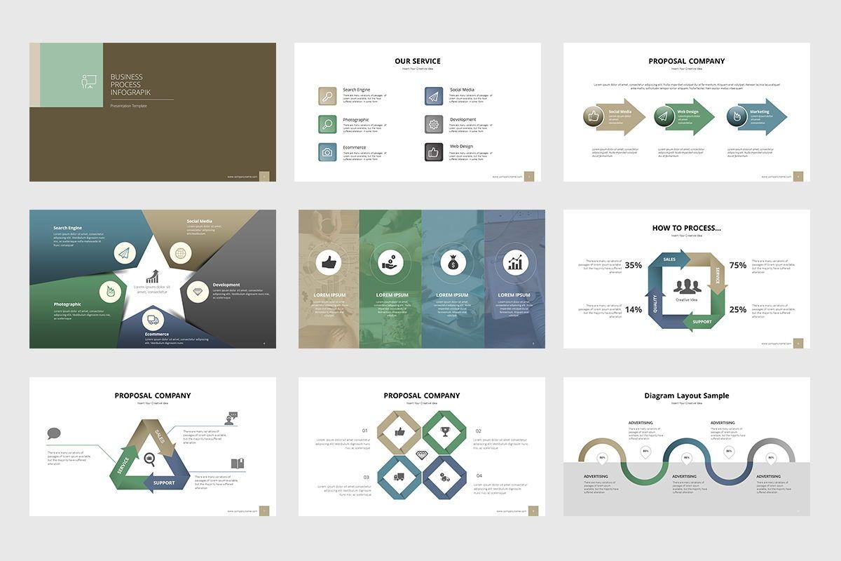 Business Process Infographic Powerpoint, Slide 2, 07863, Business Models — PoweredTemplate.com