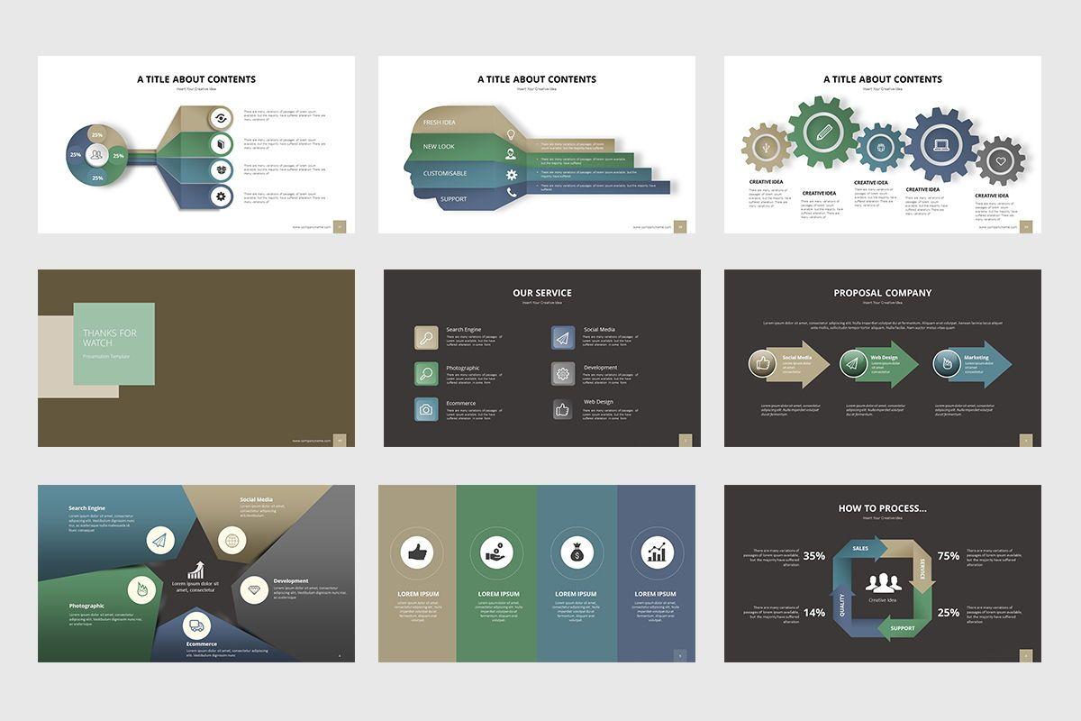 Business Process Infographic Powerpoint, Slide 6, 07863, Business Models — PoweredTemplate.com