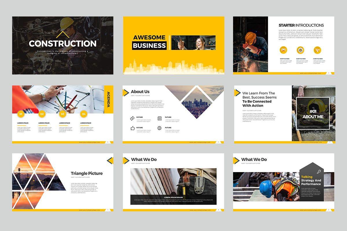 Construction Keynote Templates, Slide 2, 07864, Business Models — PoweredTemplate.com