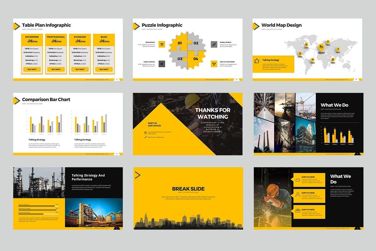 Construction Keynote Templates, Slide 6, 07864, Business Models — PoweredTemplate.com