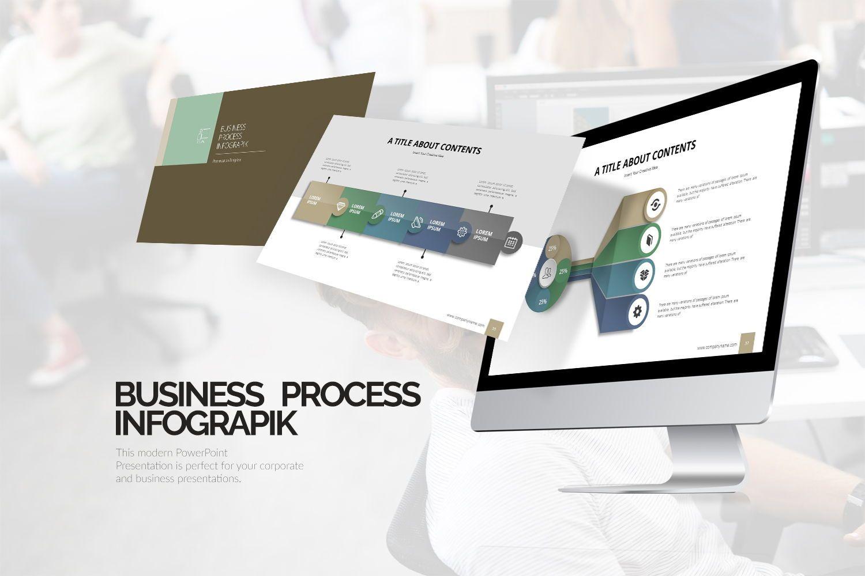 Business Process Infographic Keynote, 07865, Business Models — PoweredTemplate.com