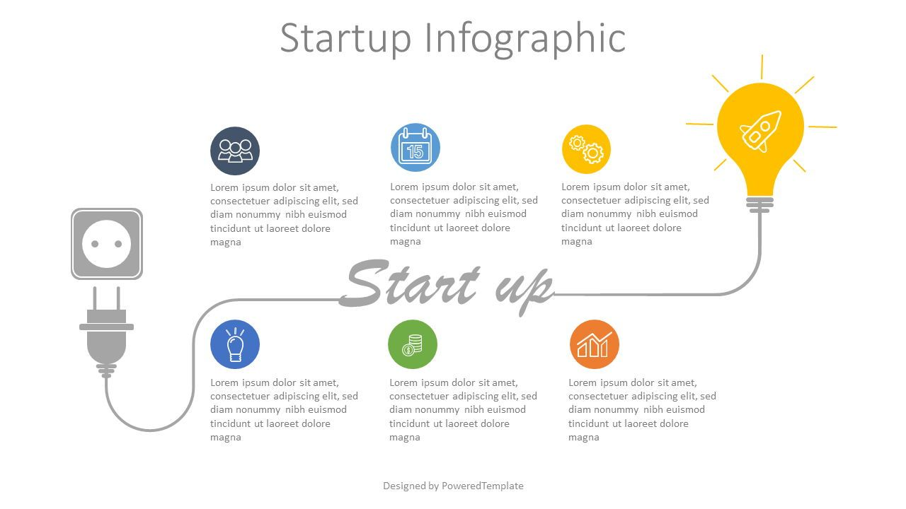 Startup Development Concept Infographic, Slide 2, 07868, Shapes — PoweredTemplate.com
