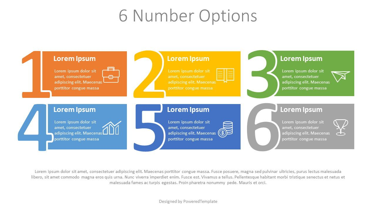 6 Number Options Infographic, Slide 2, 07871, Stage Diagrams — PoweredTemplate.com