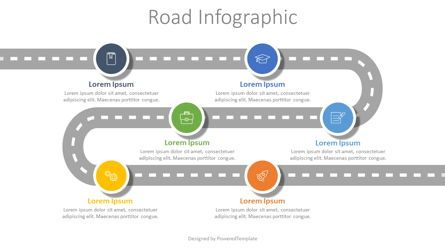 Timelines & Calendars: Roadmap with 6 Options Infographic #07874