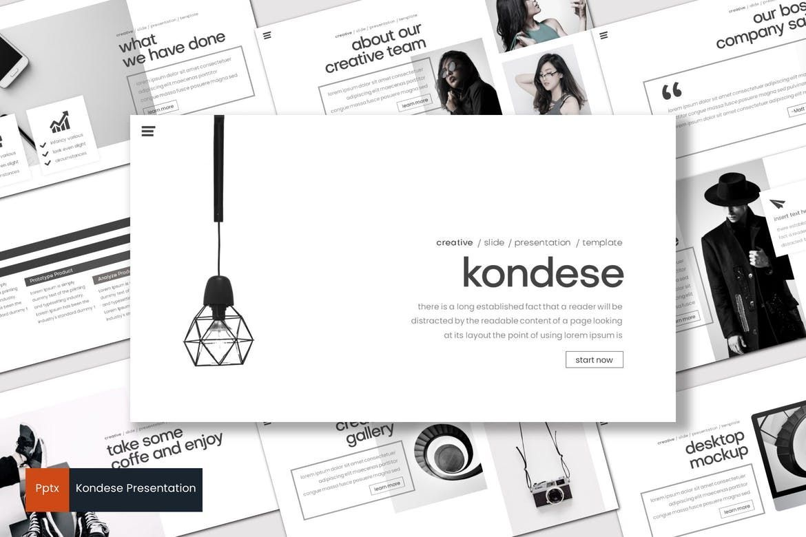 Kondese - PowerPoint Template, 07878, Presentation Templates — PoweredTemplate.com