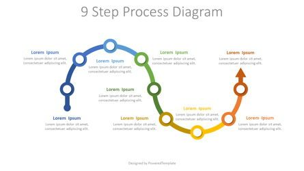 Process Diagrams: 9 Step Process Diagram #07880