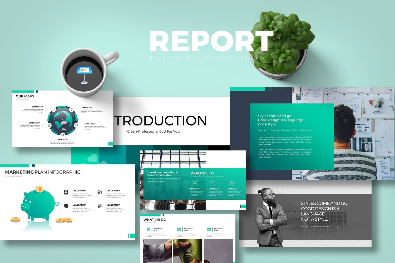 Report Keynote Templates, 07881, Business Models — PoweredTemplate.com