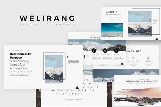 Business Models: Welirang Keynote Templates #07882