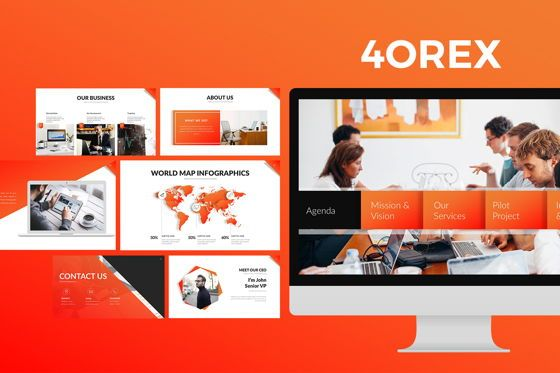 Business Models: 4OREX Keynote Templates #07883
