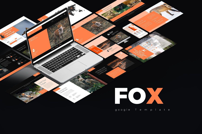 Fox Keynote Template, 07886, Business Models — PoweredTemplate.com