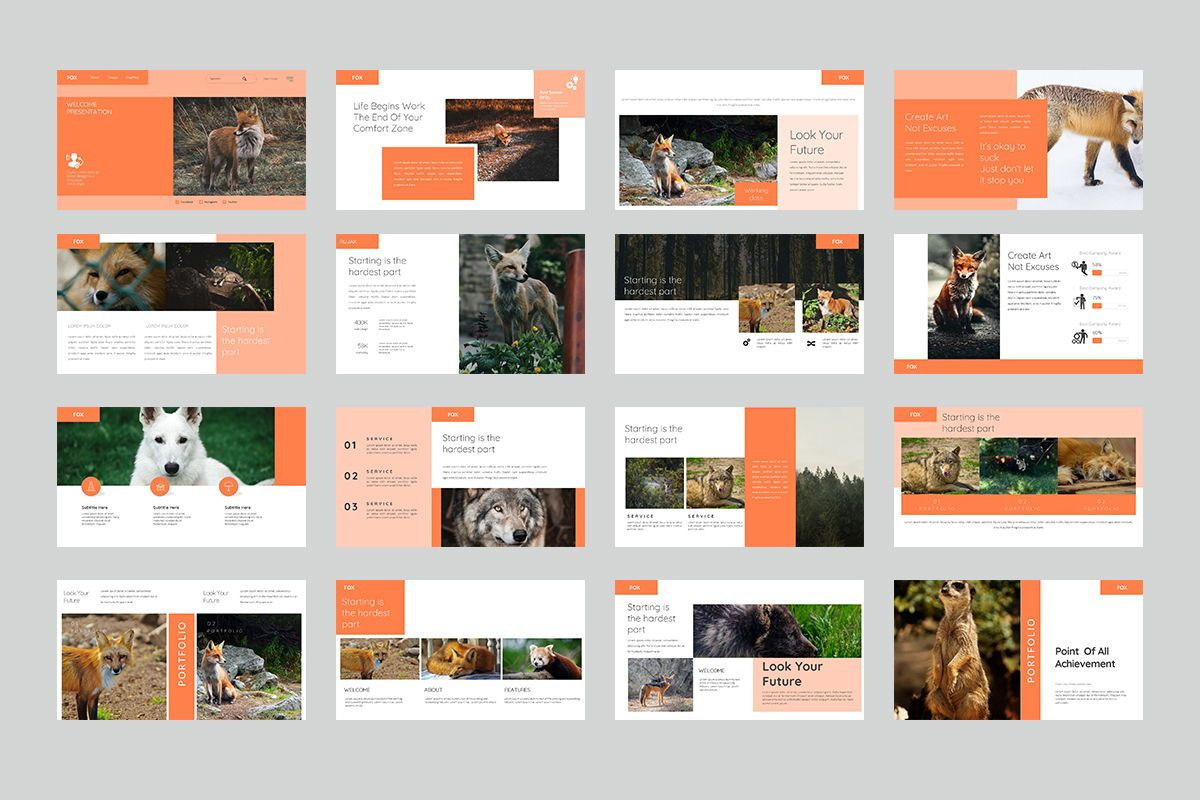 Fox Keynote Template, Slide 2, 07886, Business Models — PoweredTemplate.com
