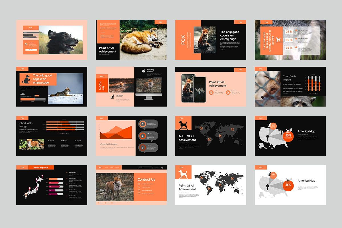 Fox Keynote Template, Slide 3, 07886, Business Models — PoweredTemplate.com