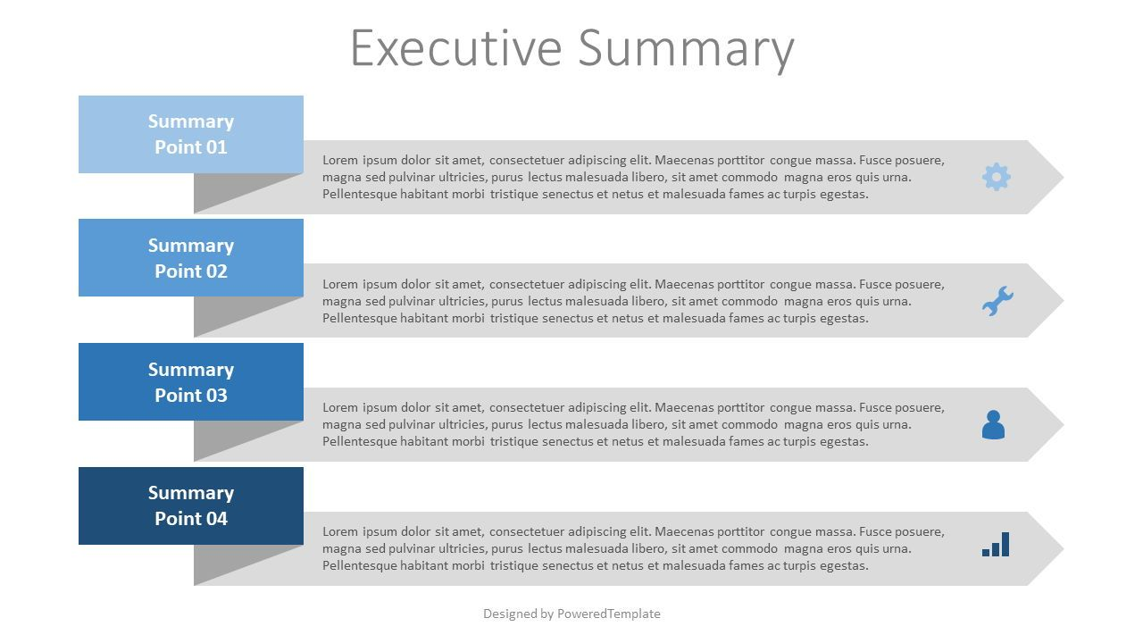 Executive Summary Template, 07887, Stage Diagrams — PoweredTemplate.com