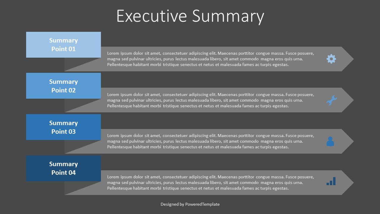 Executive Summary Template, Slide 2, 07887, Stage Diagrams — PoweredTemplate.com