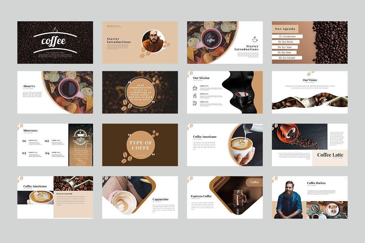 Coffee Keynote Templates, Slide 2, 07892, Business Models — PoweredTemplate.com