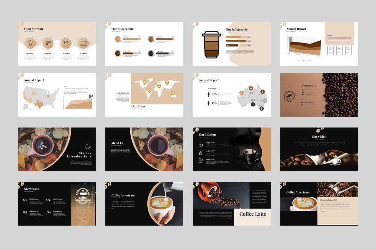 Coffee Keynote Templates, Slide 4, 07892, Business Models — PoweredTemplate.com