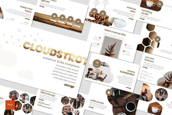 Presentation Templates: Cloudstrot - PowerPoint Template #07898