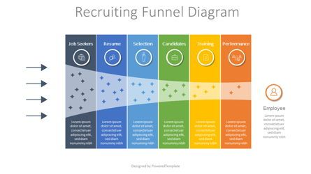 Business Models: Recruitment Funnel Diagram #07900