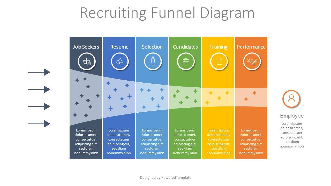 Recruitment Funnel Diagram, 07900, Business Models — PoweredTemplate.com