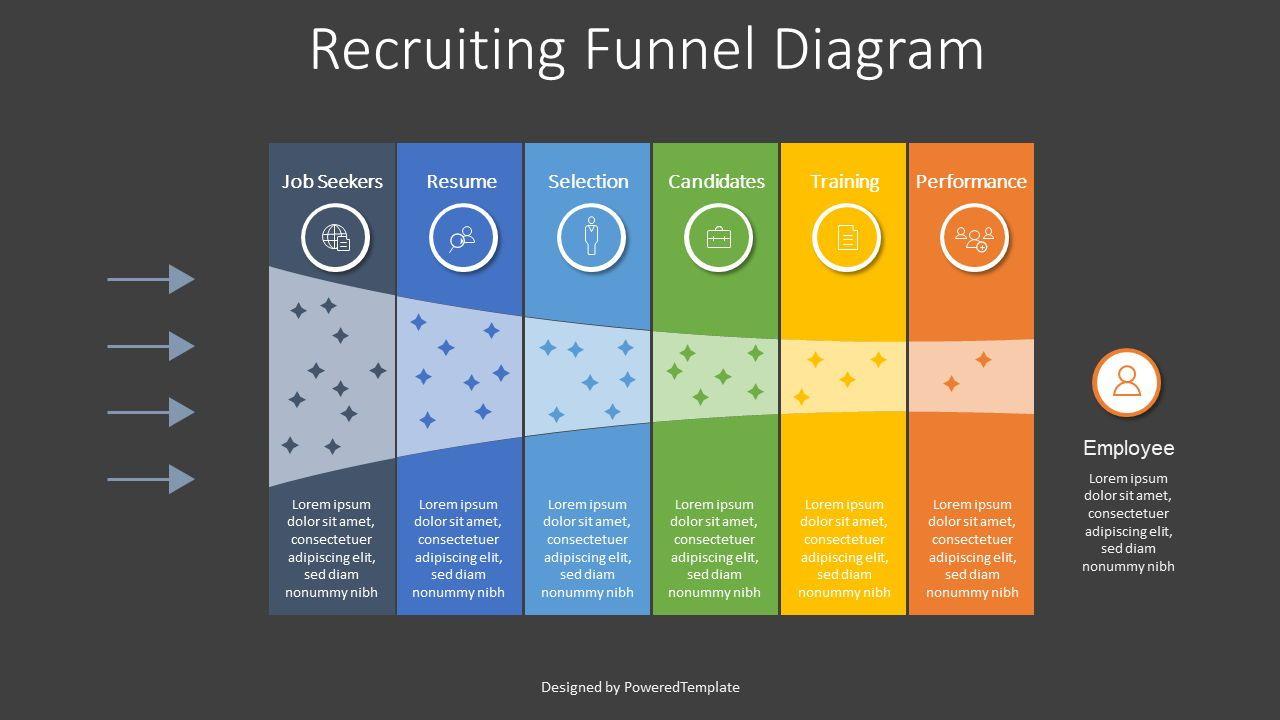 Recruitment Funnel Diagram, Slide 2, 07900, Business Models — PoweredTemplate.com